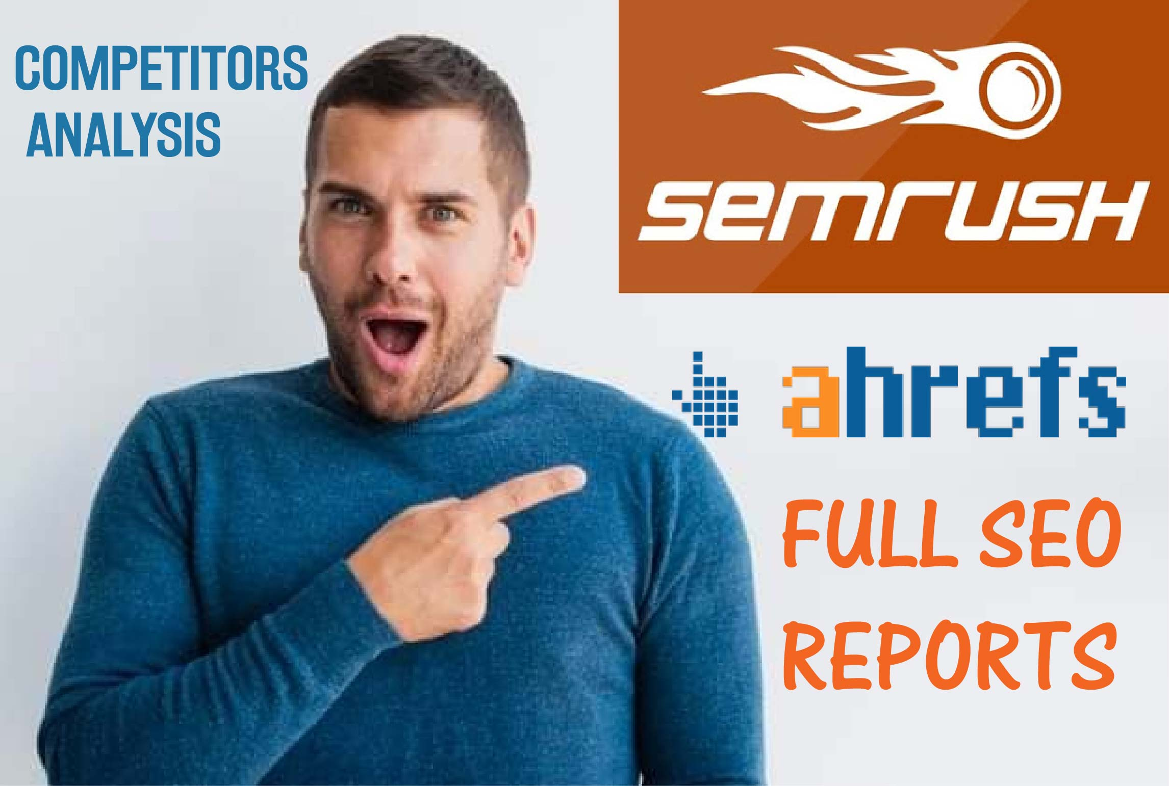 I will give you a full ahrefs semrush seo report for 10 websites