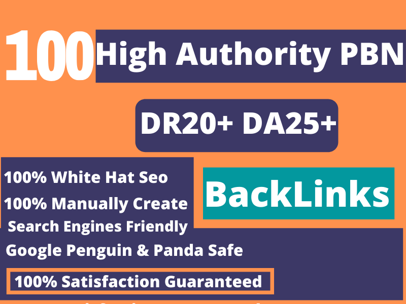 100 Powerful High Metrics Homepage Dofollow PBN SEO Backlinks.