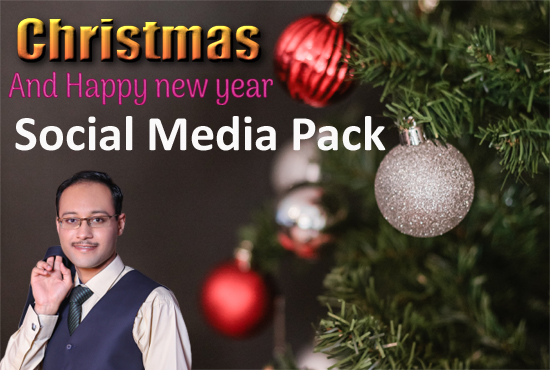 I will design Christmas and New Year social media post