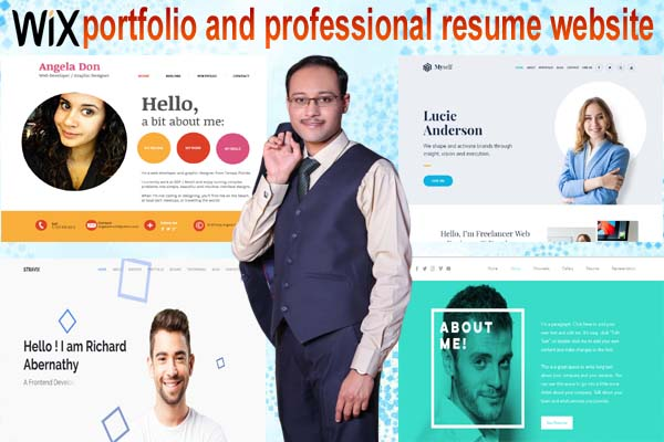 I will create wix portfolio and professional resume or CV website for you