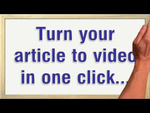 I will convert article,  blog post or text to video with voice over
