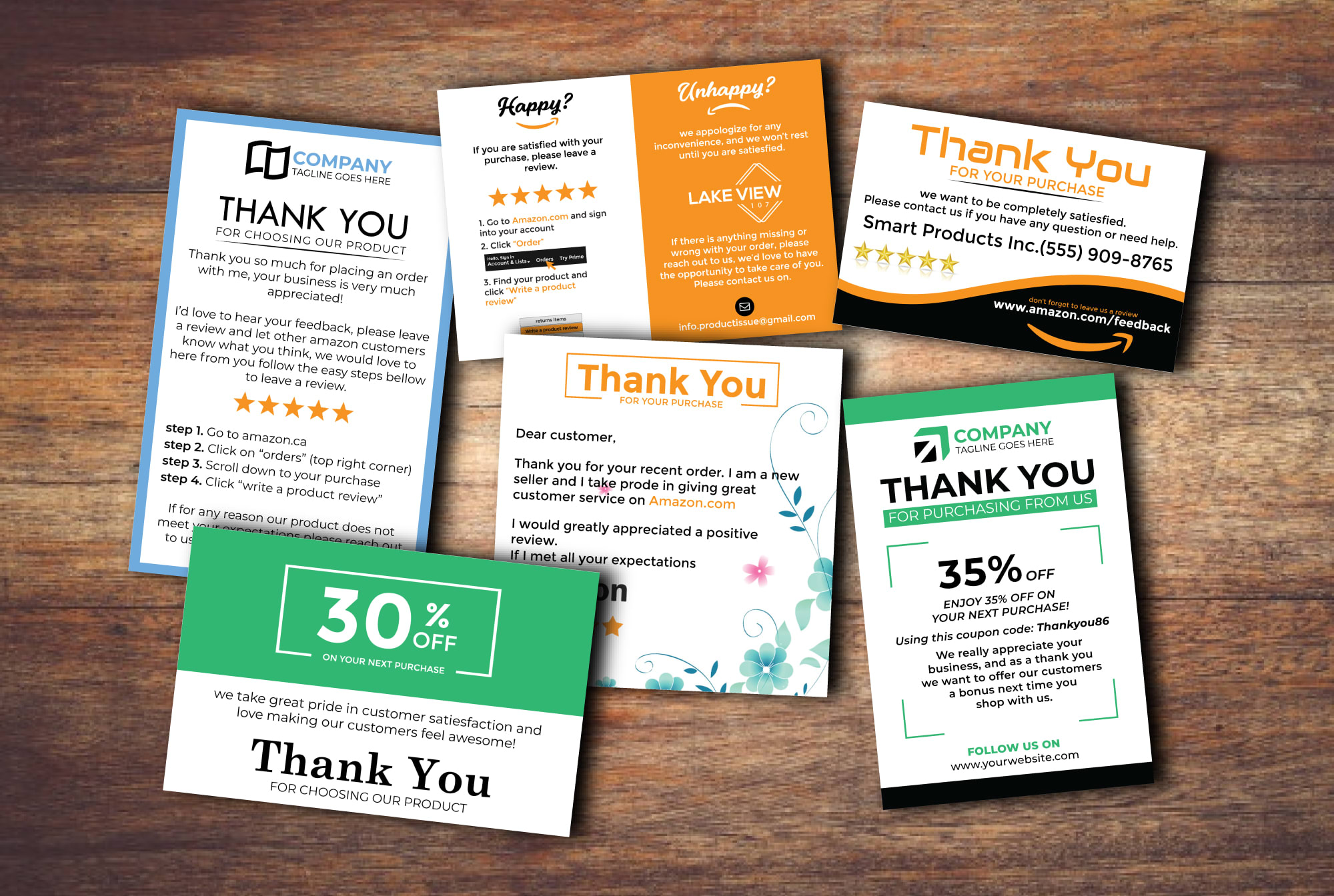 I will design luxury thank you card