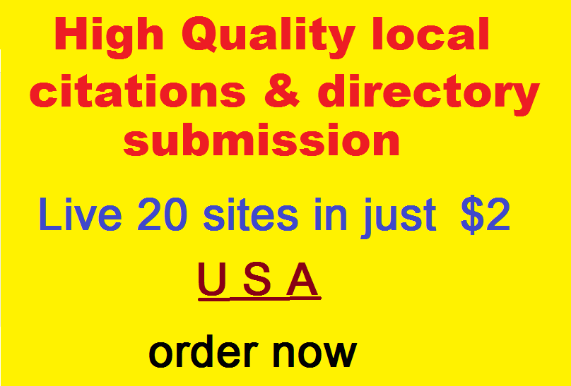 i will do local citations & directory submission for your business in USA local seo