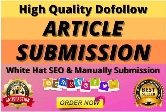 I will provide 15 unique article submission with high quality da pa backlinks