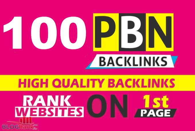 provide 100 PBN DA 20 TO 25+ dofollow authority backlinks