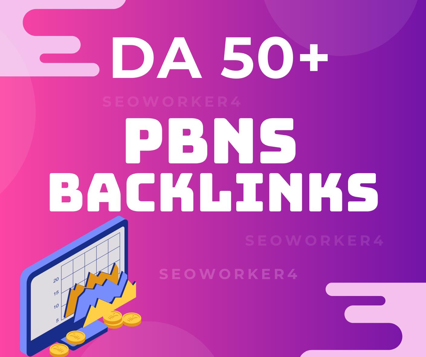 I will build 10 powerful high metrics dofollow backlinks DA 50 plus