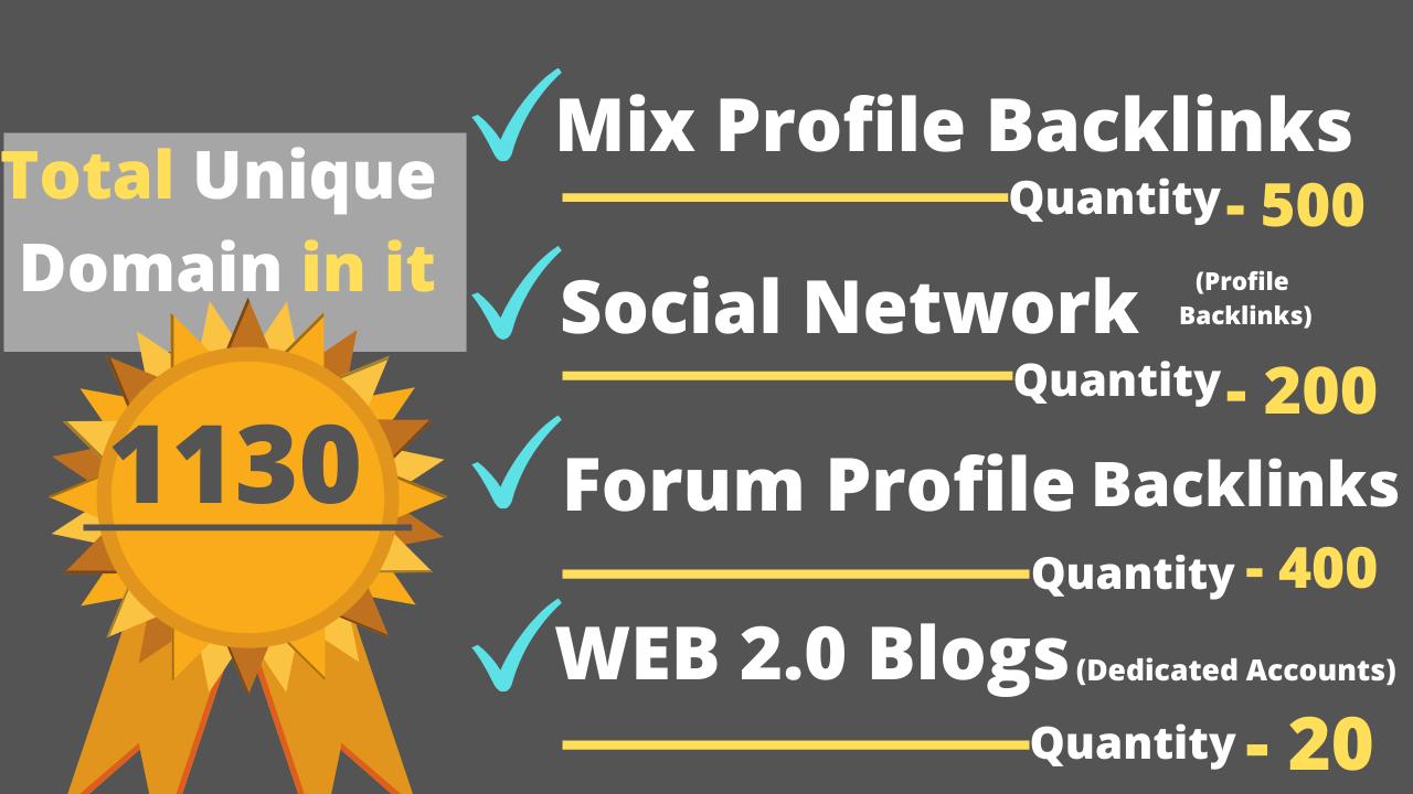 Provide 3680+ seo Backlink from Wiki,  Web2,  Forum Profile,  Blog backlinks linkbuilding
