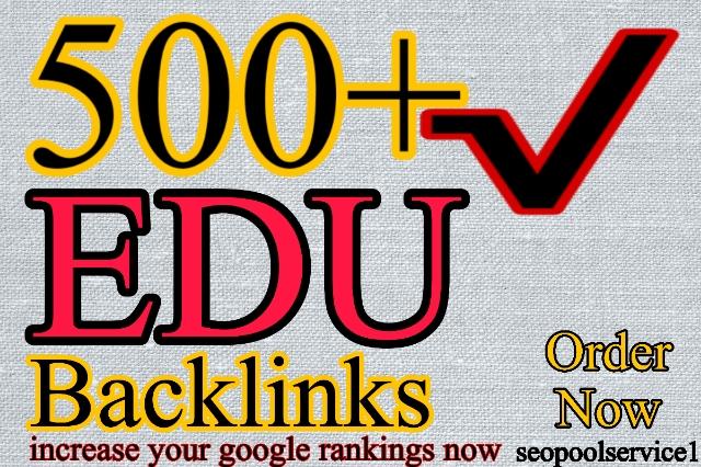 500+ Edu Backlinks with high trust authority safe link building seo backlinks