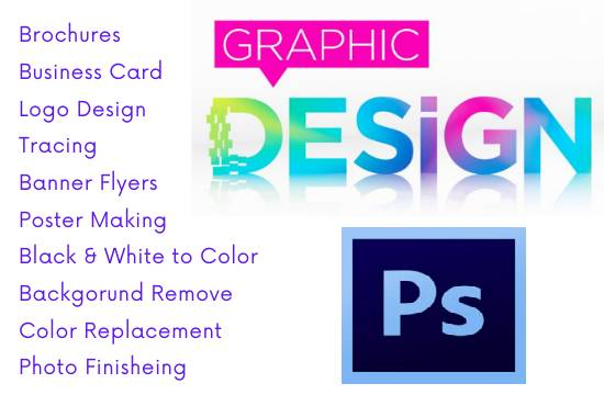 I will do any graphics designing work for you