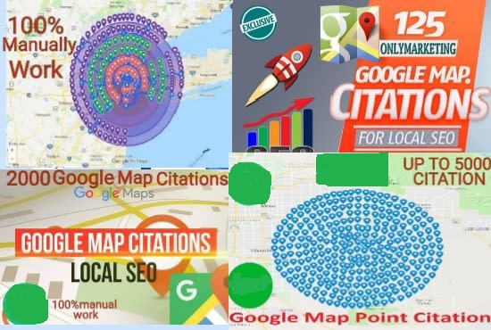 I will create manually 2000 google map citations for local SEO