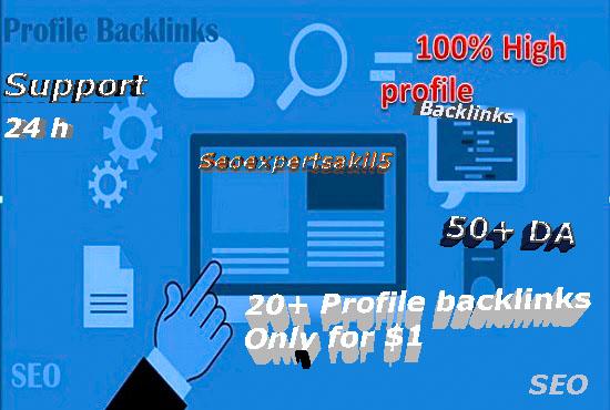 I will do 20+ HQ social media profile seo backlinks