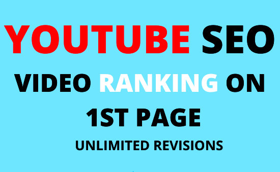 Youtube video SEO Ranking- RANK your video to Page 1 - Nobody rank better for $5