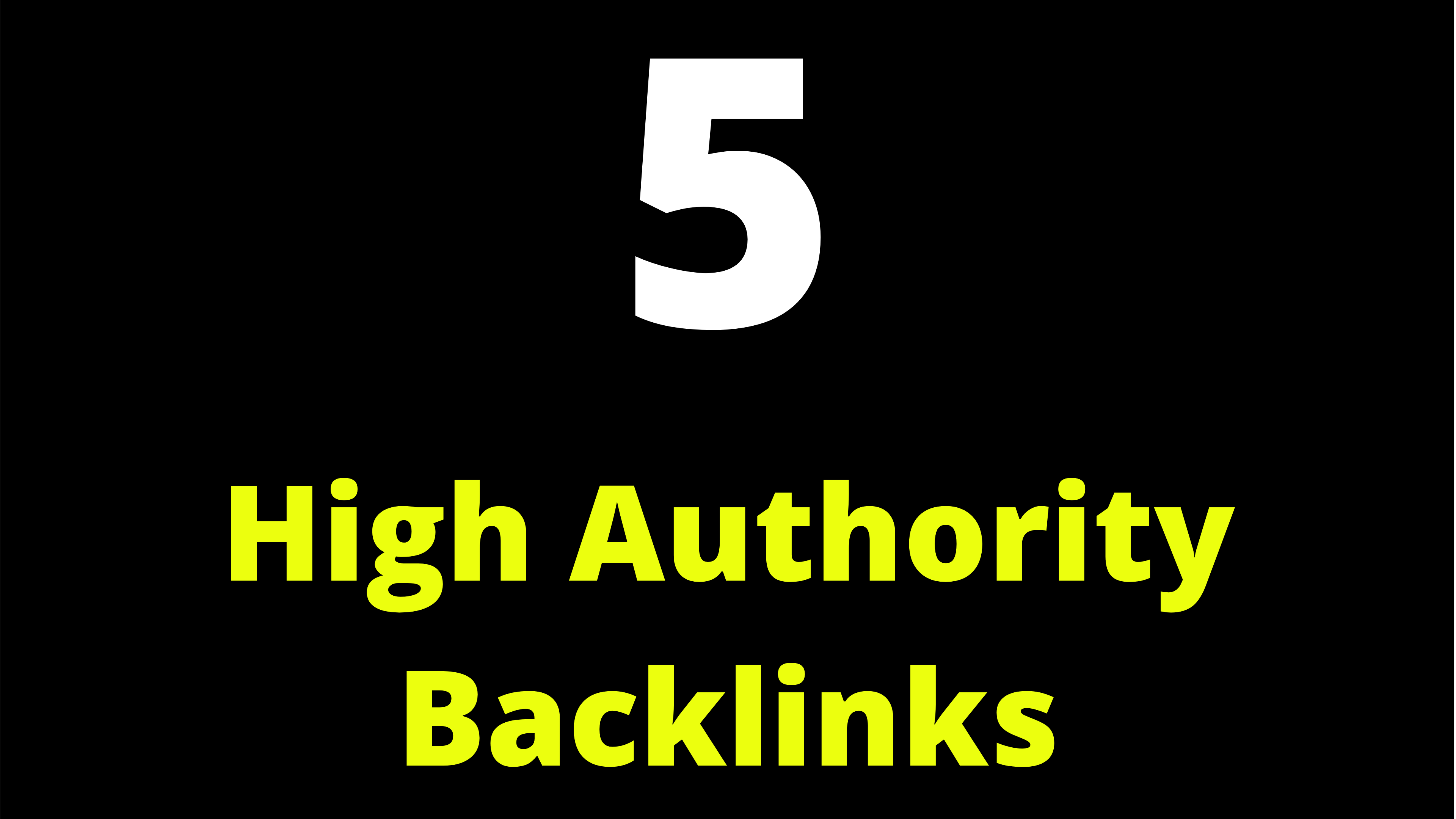 5 High Authority Site Backlinks PR9 Site Link To Your Website