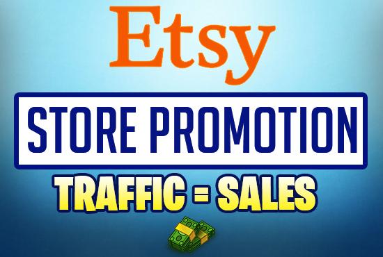 Etsy store marketing promotion USA web traffic for 30 Days
