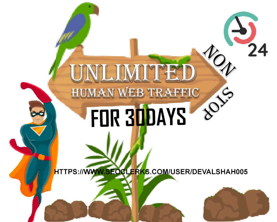 Unlimited Real HUMAN Organic TRAFFIC BY Yahoo Google Facebook Youtube and more to your web site