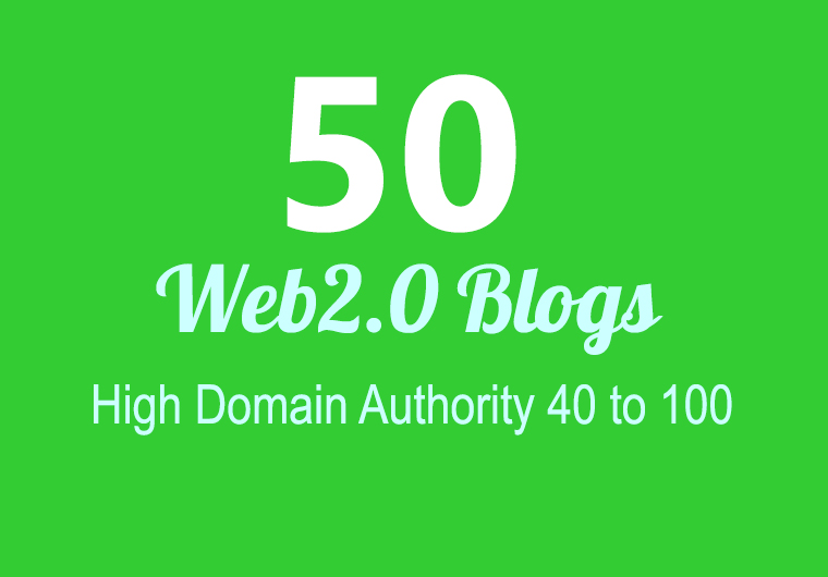 I Will build 50 super web 2.0 blog that fire SEO rankings