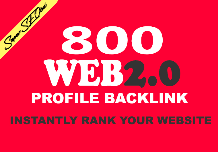 I will create 800 web 2.0 profile backlinks on high page rank sites