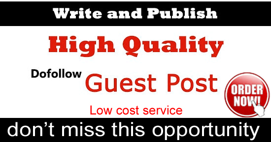 Write and publish 3 guest post 400-600 word article