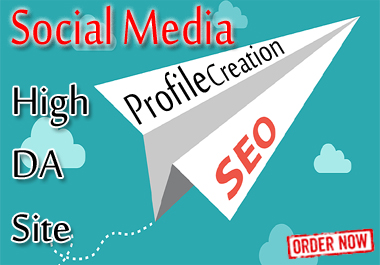 I can do 15 social media profile creation