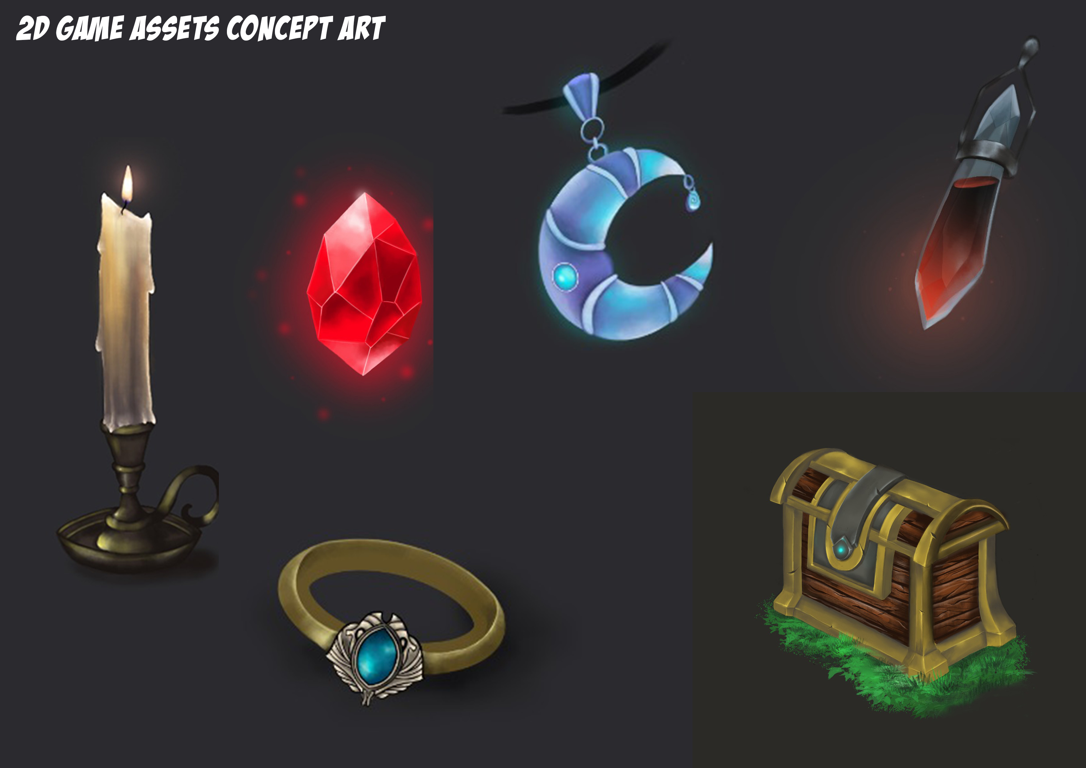 I will make character,  environment,  game assets concept art for you