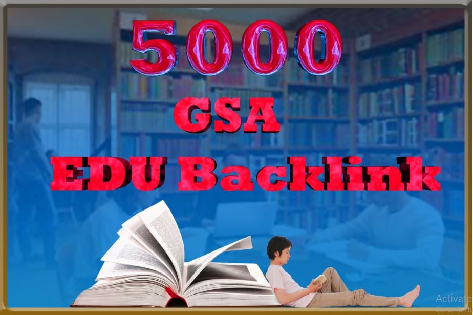 5000 GSA Edu Backlink For Ultimate SEO