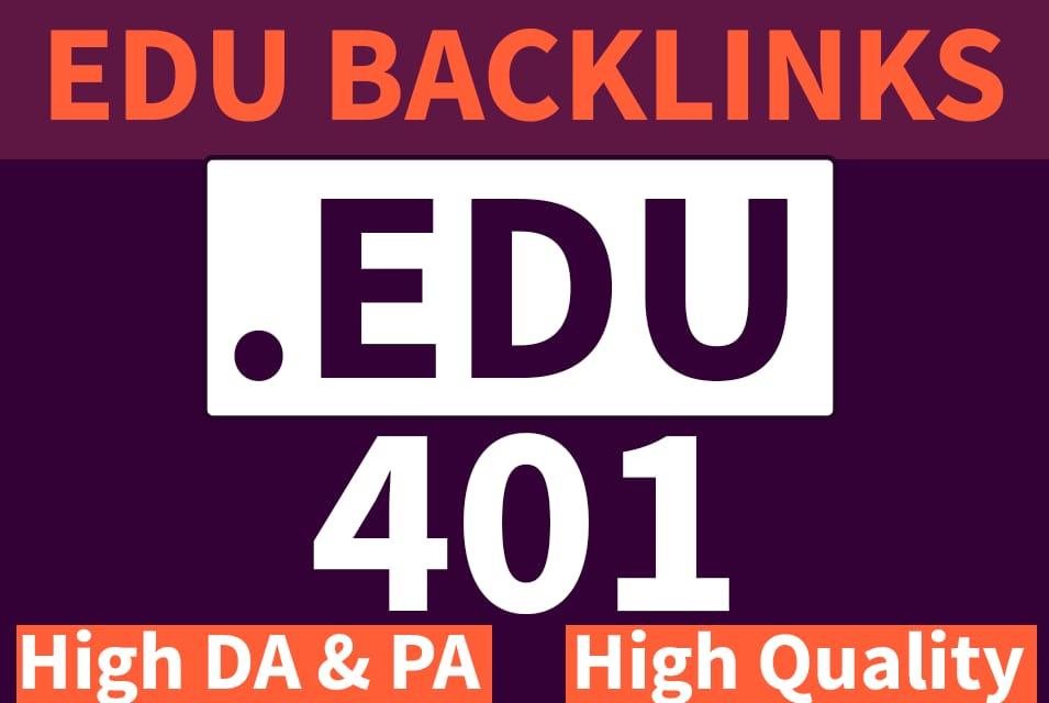 I will Built 401 EDU Backlinks with High DA