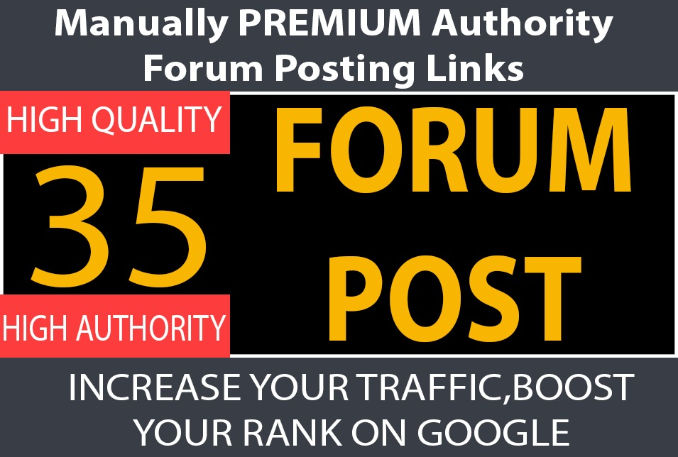 Built 35 Forum Posts on High DA sites