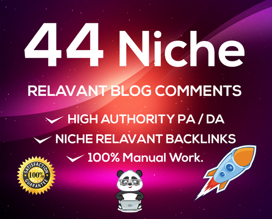 I Will Do 44 Manually High Quality Niche Relevant Backlinks