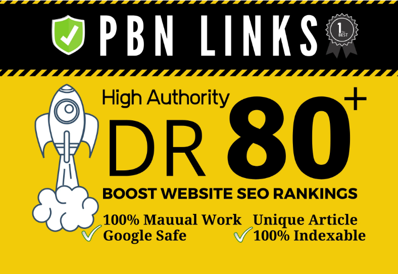 I will provide dr80 plus permanent seo dofollow backlink
