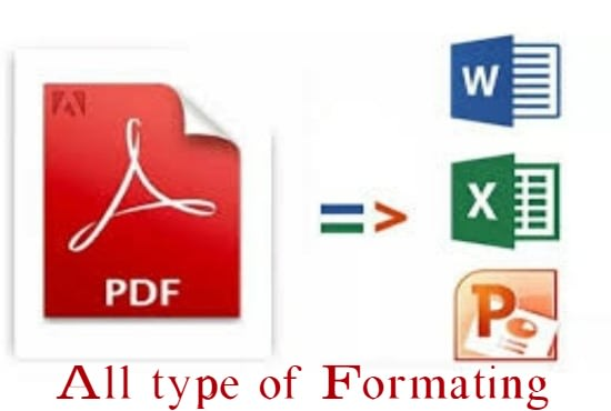 I will convert PDF document in word excel and power point