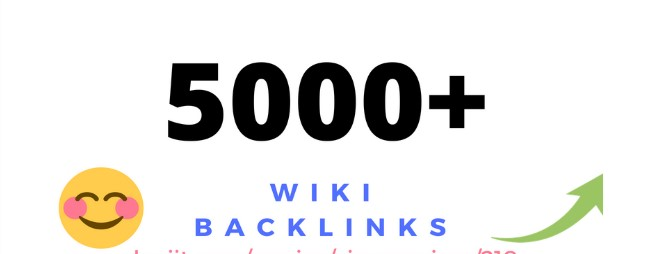 5000 Wiki Backlinks With Mix Profiles & Articles Fast Delevery