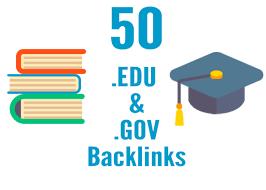 I will create 50 high Quality edu and gov backlinks