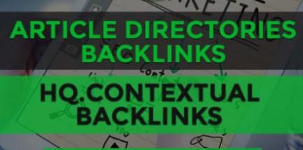 Get 785 article directory backlinks,  high pr SEO links