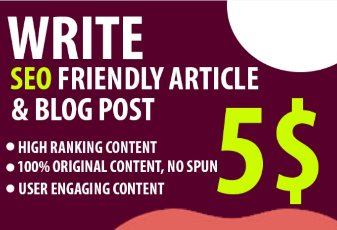 I will write compelling blog posts or articles