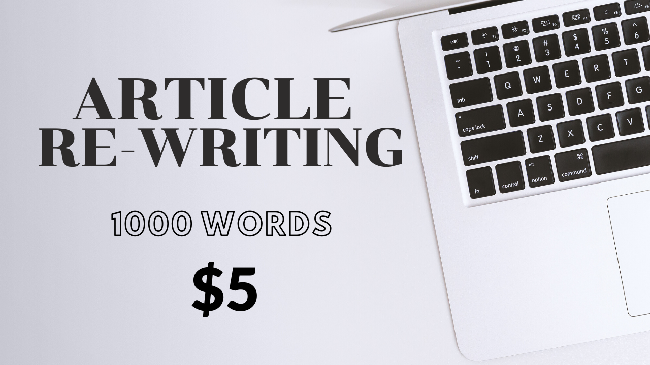 I will rewrite your 1000 words article in unique form
