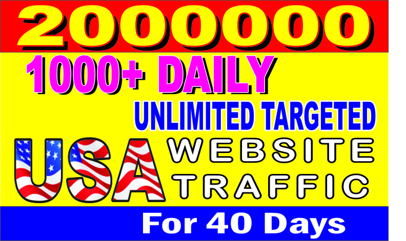 FOR A WHOLE 960 HOURS,  I WILL FACILITATE LIMITLESS,  SUPERB USA TARGETED WEB TRAFFIC TO YOUR SITES