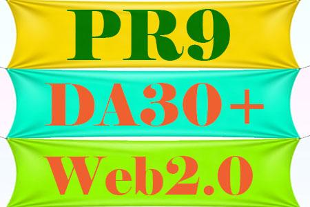 Boost Your Website PR9 DA30+ Web2.0 Site from Offsite SEO Backlink