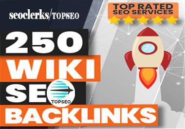 High Authority 250 wiki DA30+ Backlink on google rank your website