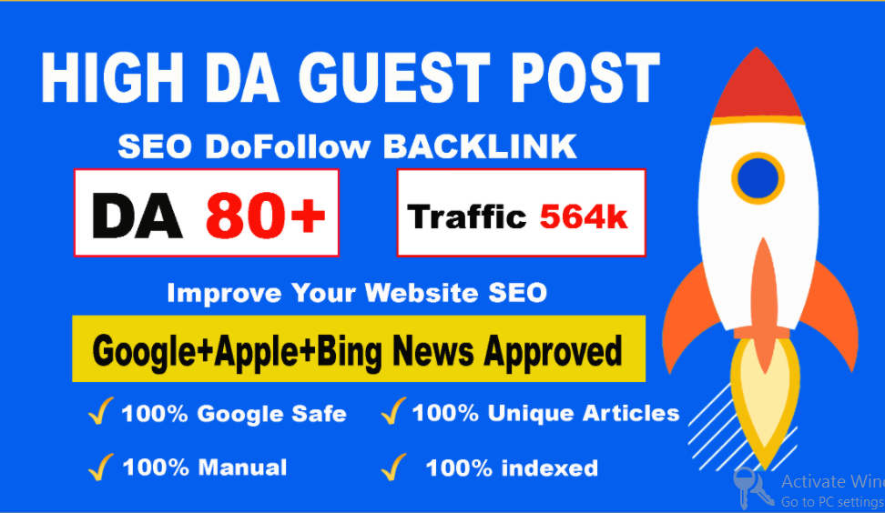 Publish Guest Post on HQ websites with high DA and Permanent Post