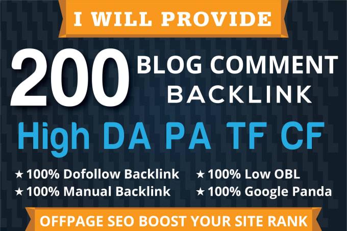 I will do Manually 200 Dofollow Blog Comments Backlinks