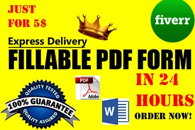 I will convert your document to pdf fillable and editable form, make pdf form in 1 hour