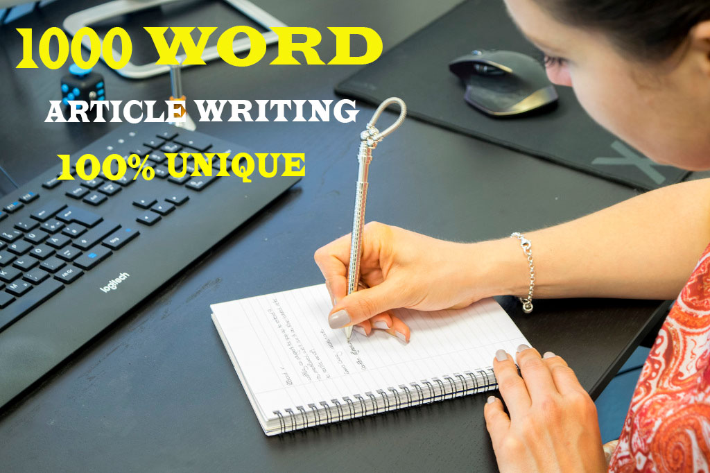 write 1000+ word unique article writing or blog post in english for any topic