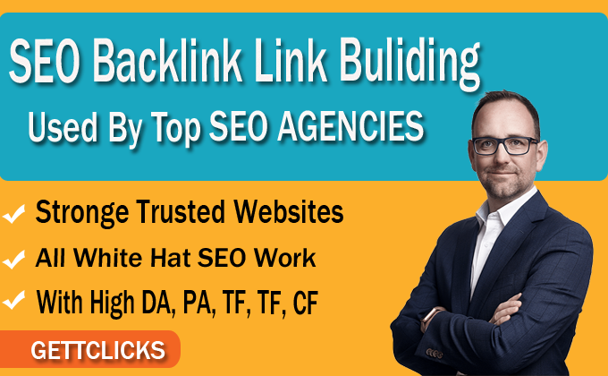 I will 50 SEO backlinks white hat manual link building service DA 30 to 90 for google ranking