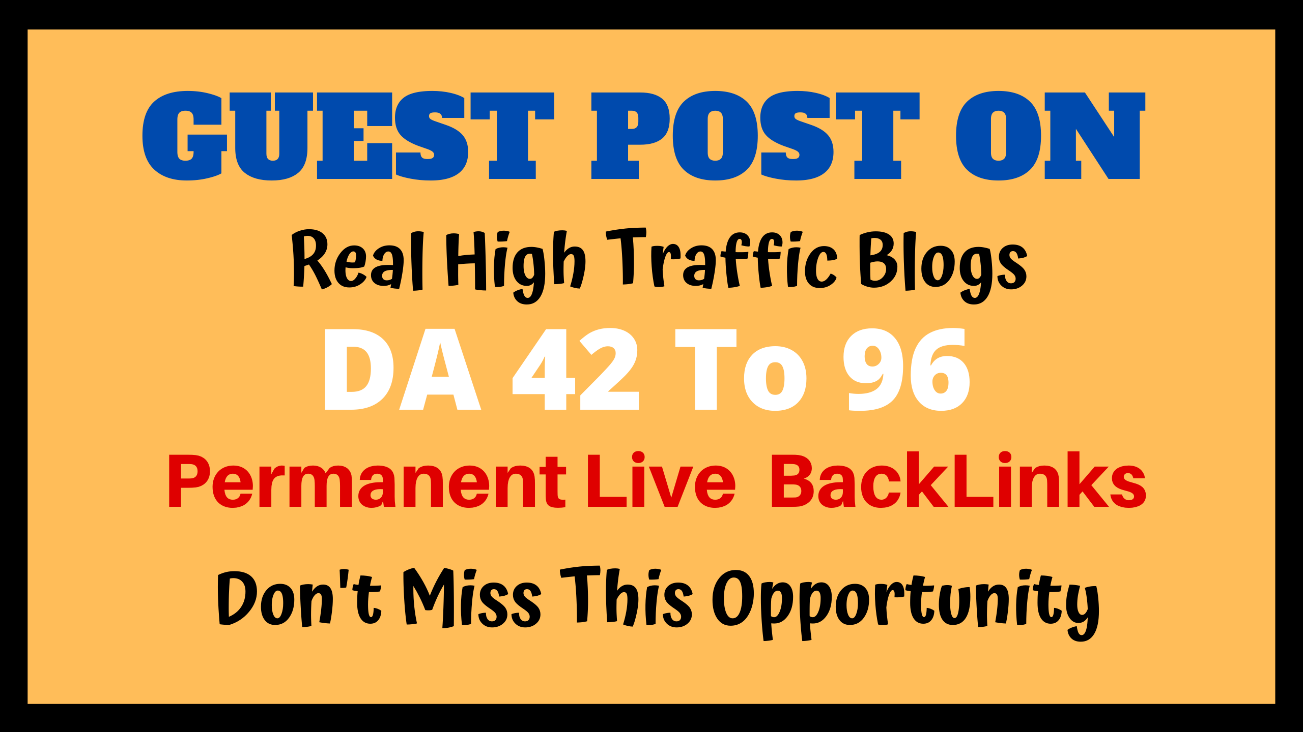 Publish 10 High DA 42 To 96 Authority Guest Post For Website SEO Ranking