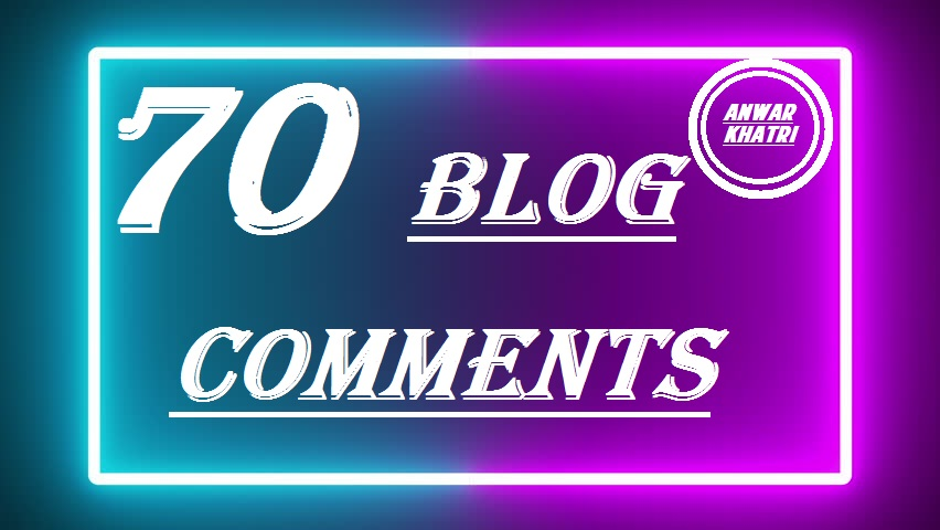 i will do High quality 70 Dofollow blog comments backlinks