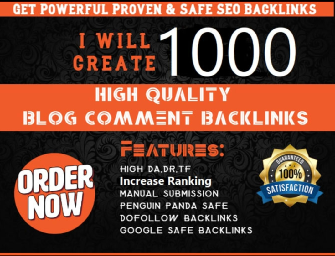 I will create 1000 high quality blog comment backlinks