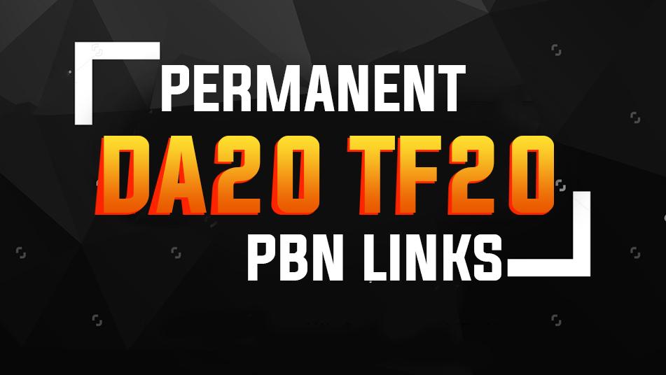 10 Permanent PBN Links DA20+ & TF 20+