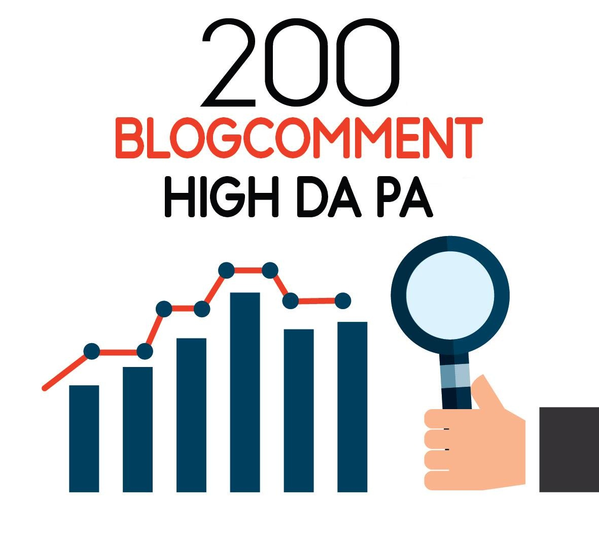 I will provide 200 dofollow blog comment high DA PA Low obl