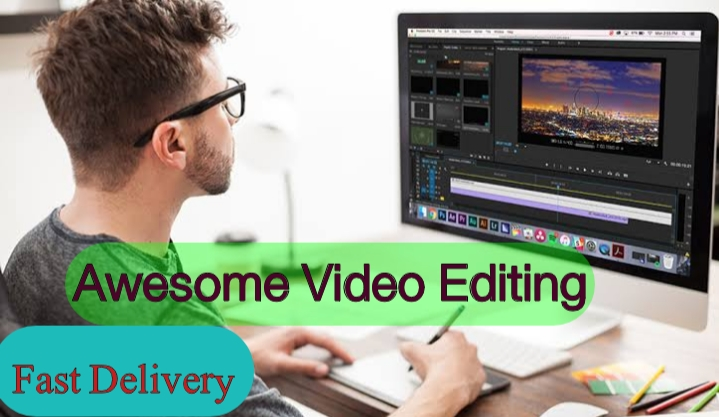 I will do awesome video editing and YouTube video editing
