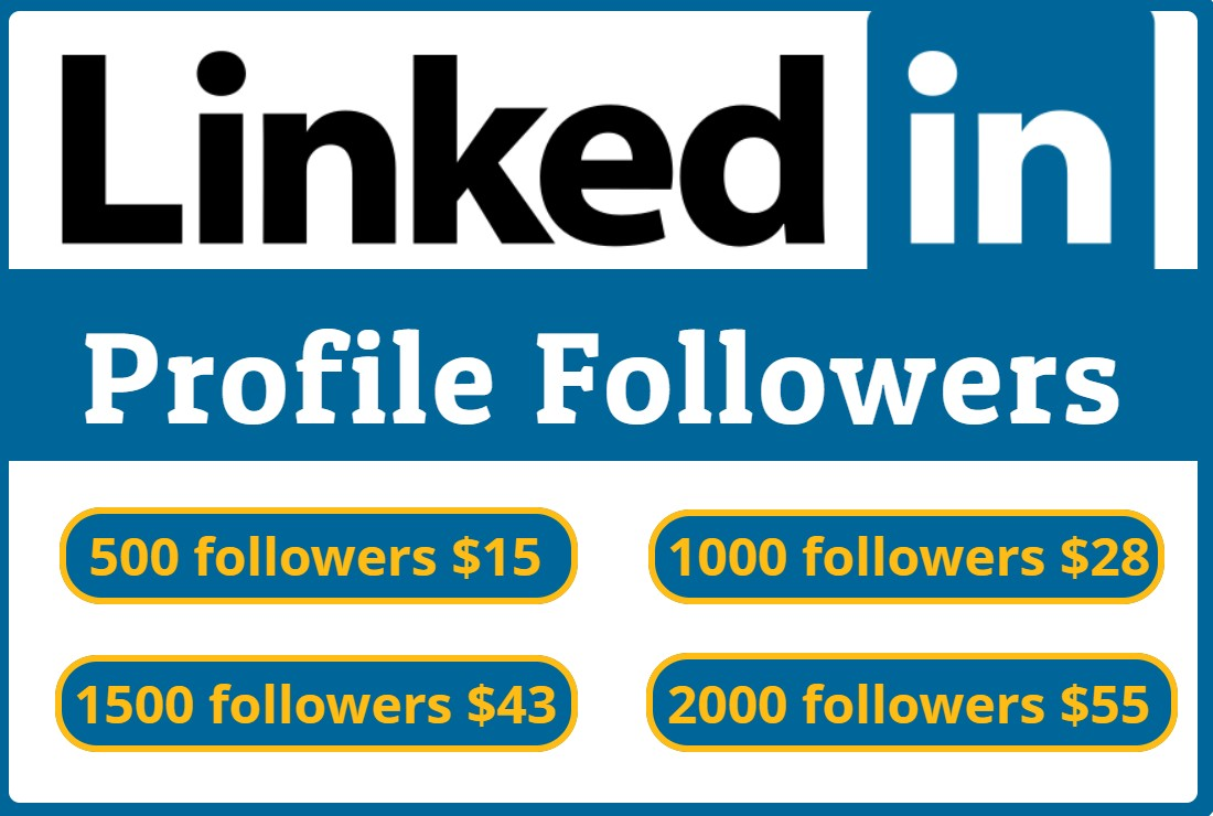 I will do 500+ Linkedin Profile Followers Non Drop & High Quality- Instantly